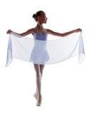 Shot of elegant little ballerina isolated on white Royalty Free Stock Photo