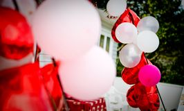 Elegant wedding accessories and props. Shot of elegant wedding accessories and props Stock Image