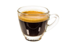 Shot of espresso coffee Stock Photos