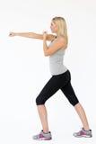 Shot Of Exercising Woman Stock Photos