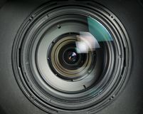 Video Lens detail internal parts Royalty Free Stock Images