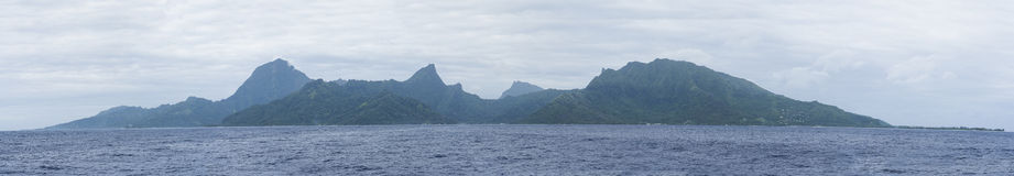 Moorea Island view Stock Photo