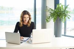 Financial consultant at work Stock Photos