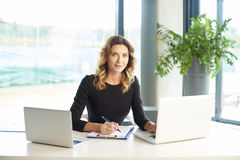 Financial consultant at work Stock Image