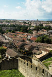 Shot from the fortress of city Carcassonne Stock Images