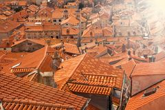 Shot full with red tile roofs Royalty Free Stock Image