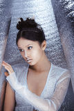 Shot of a futuristic young asian woman. royalty free stock images