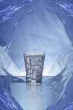 Shot of Gin in ice rock Stock Photography