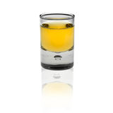 Shot glas on white background Stock Photos