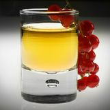 Shot glas with red fruit Royalty Free Stock Photos