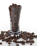 Shot glass and coffee Royalty Free Stock Image