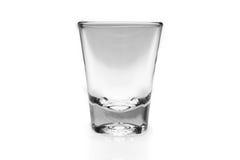 Shot glass. Empty shot glass on white background Stock Photos