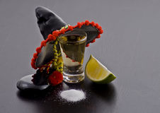 Shot glass of tequilla Stock Image