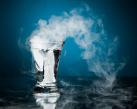 Shot glass of vodka. With ice vapor Royalty Free Stock Photo