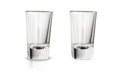 Shot glass on white background Stock Photo