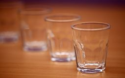 Shot glasses Stock Images
