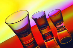 Shot glasses Royalty Free Stock Image