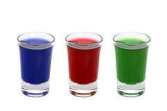 Shot glasses Royalty Free Stock Photography