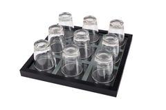 Shot Glasses Isolated On White royalty free stock photos