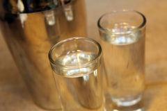 Shot glasses with mixer Stock Images
