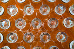 Shot glasses on a plate Royalty Free Stock Photography