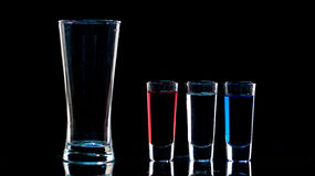 Shot Glasses Royalty Free Stock Photo