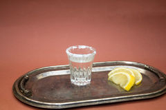 Shot glasses with tequila Stock Images