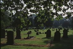 Graves in the Shadows Royalty Free Stock Image