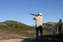 Shot gun shooting Royalty Free Stock Photo