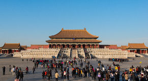 A shot of The Hall Of Supreme Harmony in the Forbidden City, Beijing, China Stock Photo