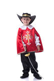 Shot of handsome little musketeer posing at camera Stock Image