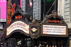 Hard Rock Cafe in Times Square stock photo