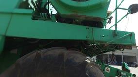 Shot of harvester fan. Slow motion stock video footage