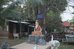 A shot of holy man`s statue stock images