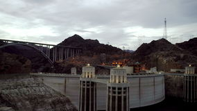 Shot of Hoover Dam at the evening stock video footage
