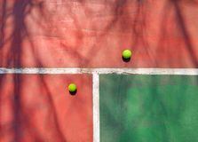 Two tennis, three colors, four things royalty free stock photos