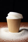 Shot Illustrating High Sugar Levels In Takeaway Drinks Royalty Free Stock Image