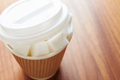 Shot Illustrating High Sugar Levels In Takeaway Drinks Royalty Free Stock Image