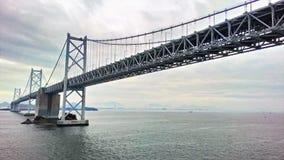 Japan Yokohama bridge shot from underneath royalty free stock photos