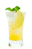 Shot with lime and mint Stock Photo