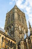 A shot of Lincoln Cathedrals tower stock image
