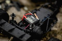 Wet RC Car royalty free stock images