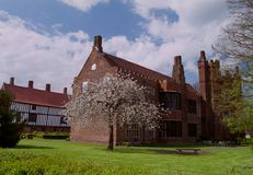 Old Hall at Gainsborough, Lincolnshire, UK. Shot of the medieval Manor House `The Old Hall` at Gainsborough in Lincolnshire in spring time Royalty Free Stock Image