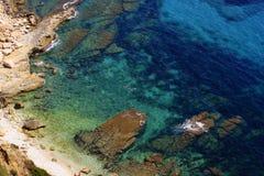 Shot of a mediterranean coastline Royalty Free Stock Image