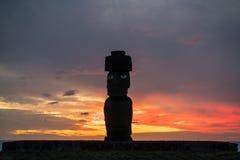 Shot of Moai statue at Easter Island Stock Image