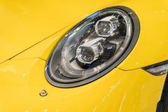 Shot of a modern car headlight Stock Image