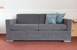 Shot of a modern couch. In a living room Royalty Free Stock Image