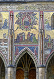 A shot of the mosaic panels at the St. Vitus Cathedral Stock Images