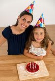 Birthday party with my mom Stock Photos