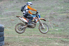 A shot of a motocross rider during a race Stock Photography